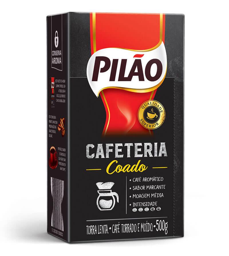 nova linha de café superior de Pilão (pacote Coado, com sabor marcante)