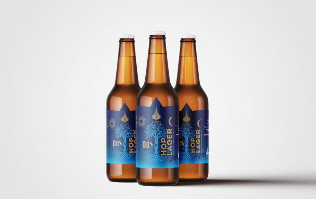Nova cerveja sem álcool Hop Lager da cervejaria OL Beer