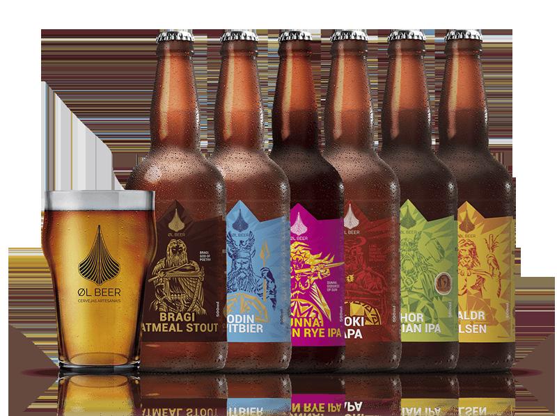 linha de cervejas OL Beer